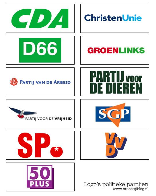 logo's politieke partijen