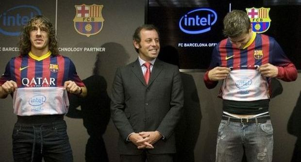 FC Barcelona Intel Inside shirt sponsoring